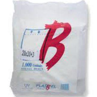 B.BLOCK 20X30+3 TRANSP. PAQ.1000 UDS C/5 PLASBEL