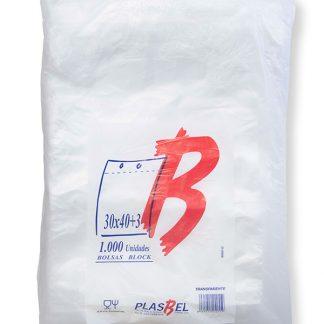 B.BLOCK 30X40+3 TRANSP. PAQ. 1000 UDS C/5 PLASBEL