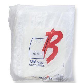B.BLOCK 35X47+3 TRANSP. PAQ.1000 UDS C/5 PLASBEL