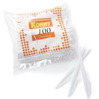 CUCHILLO DE PLASTICO PS 100U C/20 KONNY