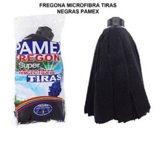 RECAMBIO FREGONA MICROFIBRA TIRAS NEGRAS C/24 PAMEX