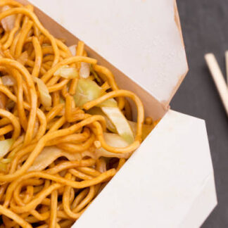 Chow Mein Noodles  in a Take Out Container