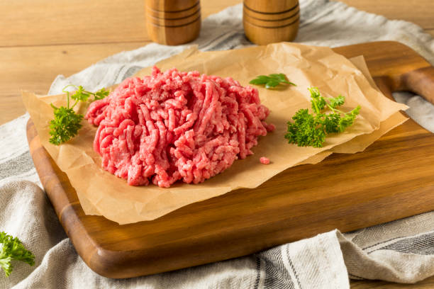 Organic Grass Fed Ground Lamb Meat Ready to Cook