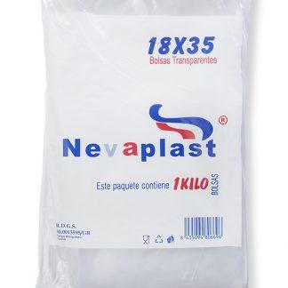 PLASTICO TRANSPARENTE 18X35 C/25 NEVAPLAST