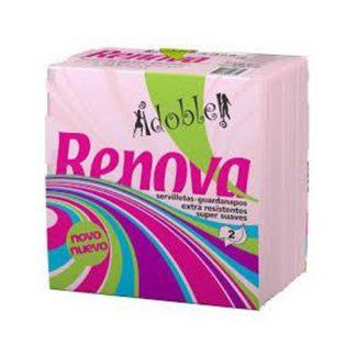 SERVILLETAS 33X33 ROSA 2 HOJAS C/36 RENOVA