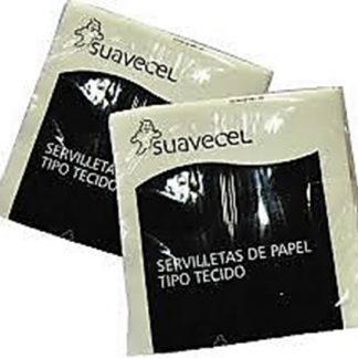 SERVILLETAS 38X38 TIPO TEJIDO BLANCA SUAVECEL C/30