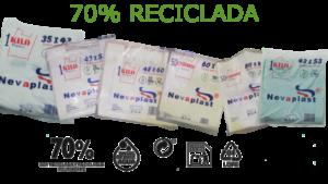 BOLSAS DE PLASTICO CON UN 70% MATERIAL RECICLADO 1